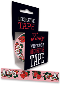 Flowers Hearts Imprint: Laughing Elephant Tape Valentine's Day'