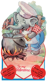 Animals Elephants Hearts Holidays Illustrator: Unknown Imprint: Laughing Elephant Love & Romance Valentine's Day'