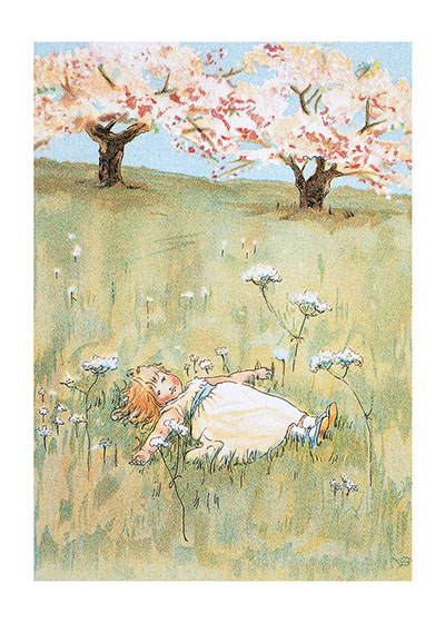 Sleeping In the Peaceful Meadow | Girls Children Greeting Cards