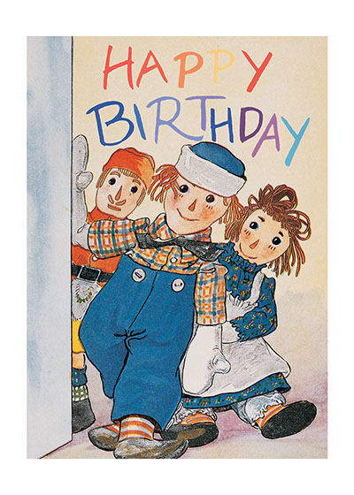 Raggedy Ann & Andy Birthday Greeting Card | Birthday Greeting Cards