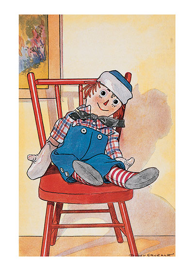Raggedy Andy Relaxing | Dolls Greeting Cards