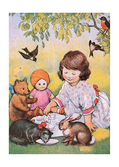 A Most Delightful Tea Party | Dolls Greeting Cards