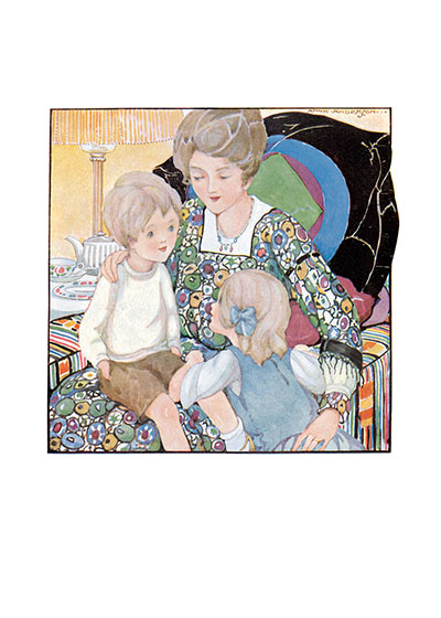 Sitting In the Big Chair With Mother | Mother's Day Greeting Cards A brother, a sister and their mother in silent communion.
