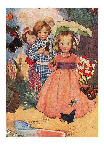 Children In The Garden | Birthday Greeting Cards