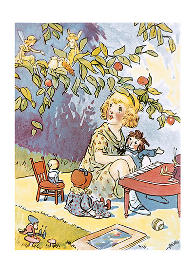 Marcella Playing the Piano for Raggedy Ann and the Fairies | Storybook Classics Art Prints