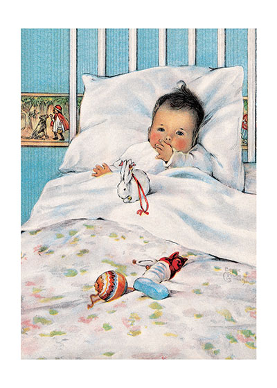 Baby with Toys  | Baby Greeting Cards