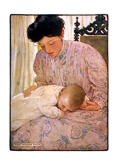 Mother with Sleeping Baby   | Jessie Willcox Smith Greeting Cards
