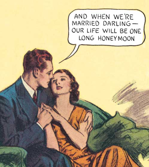 And When We're Married Darling .... | Romance Comics Graphic Design Greeting Cards INSIDE GREETING:  Happy Anniversary.