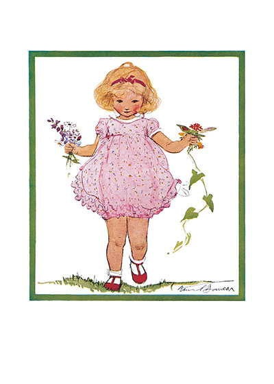 The Perfect Pink Frock | Girls Children Greeting Cards Our blank notecards are custom printed at our location in Seattle, WA. They come bagged with an envelope. We love illustration art from old children's books and early, printed ephemera. These cards reflect this interest in bringing delightful art back to life.