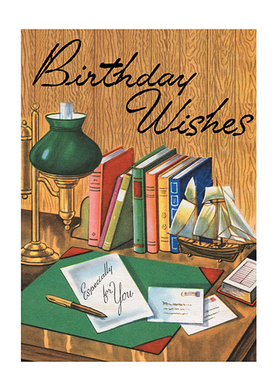 Writing A Birthday Letter  OUTSIDE GREETING: Birthday Wishes  INSIDE GREETING:   The best of good wishes for a happy birthday and a successful year.  Our notecards are custom printed at our location in Seattle, WA. They come bagged with an envelope. We love illustration art from old children's books and early, printed ephemera. These cards reflect this interest in bringing delightful art back to life.