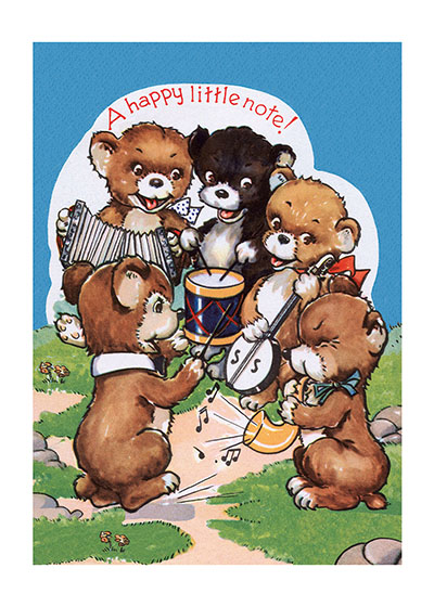 Baby Bear Musical Ensemble  INSIDE GREETING: A Happy Birthday song for you.