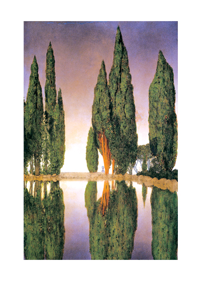 Cypress Trees These prints are made at our location in Seattle, WA. They have a thick, white backing board and are sealed in clear bags. Each is suitable for framing at 11 inches x 14 inches or can be used as is for wall display. Our goal is to bring back to life these wonderful illustrations from old-fashioned, children's books and from early advertising art.