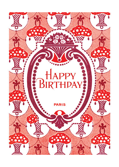 Art Nouveau Flower Baskets | Birthday Greeting Cards