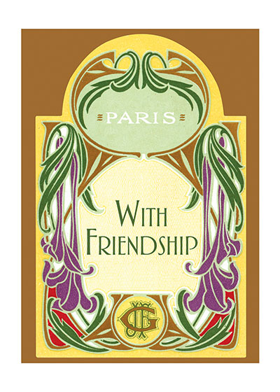 Art Deco Friendship | Friendship Greeting Cards Blank Inside