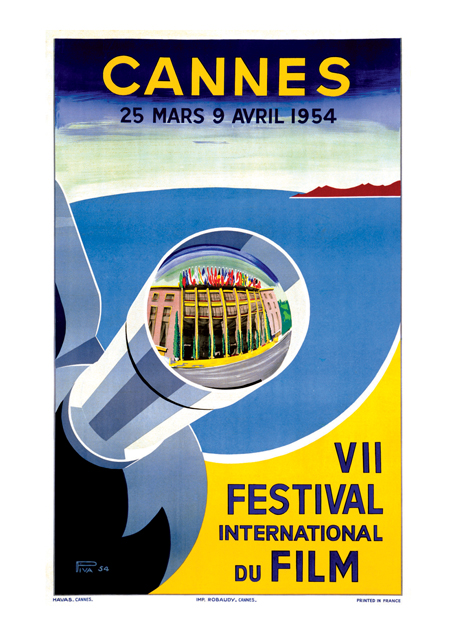 Cannes 1954 | Retro Movie Posters Performing Arts Greeting Cards Cannes Film Festival, 1954.
