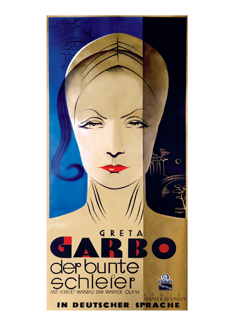 Garbo: The Painted Veil | Retro Movie Posters Performing Arts Greeting Cards Greta Garbo The Painted Veil 1934.
