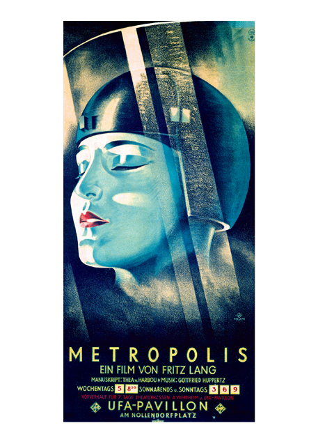 "Metropolis | Retro Movie Posters Performing Arts Greeting Cards ""Metropolis Fritz Lang, 1927."