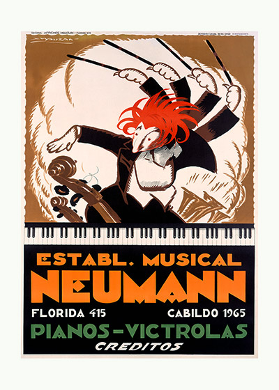 "Neumann Pianos | Classical Music Performing Arts Art Prints ""These prints are made at our location in Seattle, WA. They have a thick, white backing board and are sealed in clear bags. Each is suitable for framing at 11 inches x 14 inches or can be used as is for wall display. Our goal is to bring back to life these wonderful illustrations from old-fashioned, children's books and from early advertising art."""