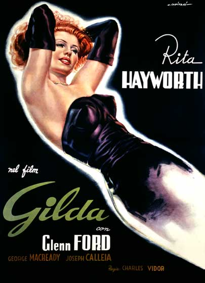 Rita Hayworth: Gilda | Retro Movie Posters Performing Arts Art Prints These prints are made at our location in Seattle, WA. They have a thick, white backing board and are sealed in clear bags. Each is suitable for framing at 11 inches x 14 inches or can be used as is for wall display. Our goal is to bring back to life these wonderful illustrations from old-fashioned, children's books and from early advertising art.