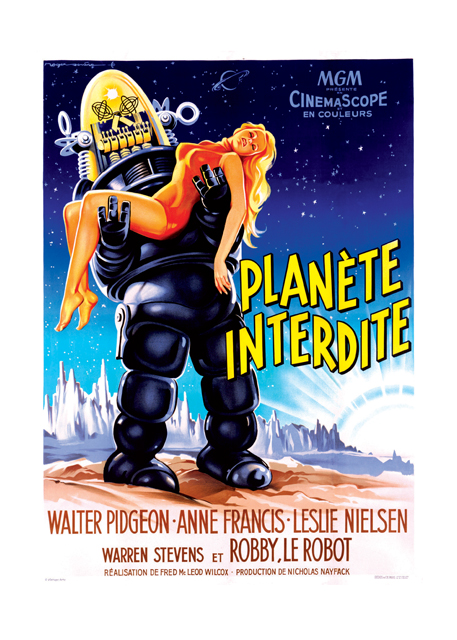 Forbidden Planet | Retro Movie Posters Performing Arts Greeting Cards
