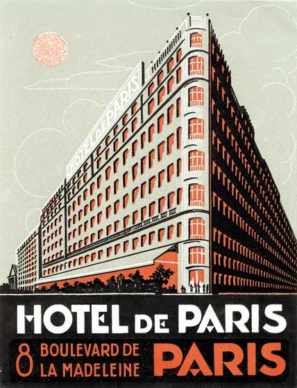 Hotel de Paris These prints are made at our location in Seattle, WA. They have a thick, white backing board and are sealed in clear bags. Each is suitable for framing at 11 inches x 14 inches or can be used as is for wall display. Our goal is to bring back to life these wonderful illustrations from old-fashioned, children's books and from early advertising art.