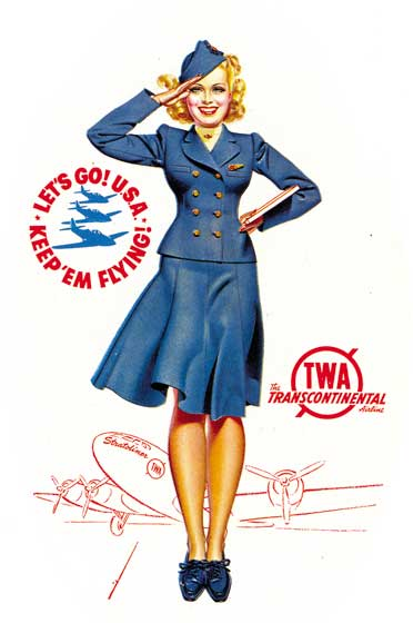 Flight Attendant These prints are made at our location in Seattle, WA. They have a thick, white backing board and are sealed in clear bags. Each is suitable for framing at 11 inches x 14 inches or can be used as is for wall display. Our goal is to bring back to life these wonderful illustrations from old-fashioned, children's books and from early advertising art.