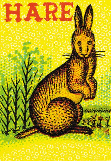 Hare These prints are made at our location in Seattle, WA. They have a thick, white backing board and are sealed in clear bags. Each is suitable for framing at 11 inches x 14 inches or can be used as is for wall display. Our goal is to bring back to life these wonderful illustrations from old-fashioned, children's books and from early advertising art.