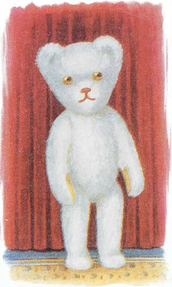 White Teddy Bear  BLANK INSIDE  Our blank notecards are custom printed at our location in Seattle, WA. They come bagged with an envelope. We love illustration art from old children's books and early, printed ephemera. These cards reflect this interest in bringing delightful art back to life