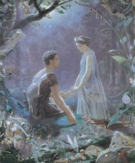 A Midsummer Night's Dream - Hermia and Lysander | Shakespeare Performing Arts Greeting Cards From {A Midsummer Night's Dream} Act II Scene I: