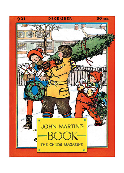 Carrying The Christmas Tree | Magazine Covers Christmas Greeting Cards