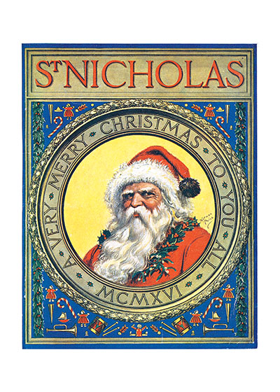 Old St. Nick | Magazine Covers Christmas Art Prints These prints are made at our location in Seattle, WA. They have a thick, white backing board and are sealed in clear bags. Each is suitable for framing at 11 inches x 14 inches or can be used as is for wall display. Our goal is to bring back to life these wonderful illustrations from old-fashioned, children's books and from early advertising art.