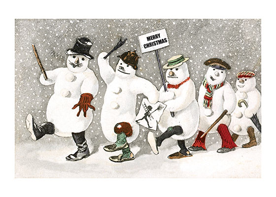 Snowman Parade | Snowmen Christmas Greeting Cards