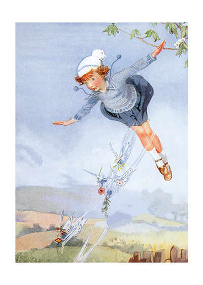Flying With the Fairies | Children & Fairies Greeting Cards INSIDE GREETING:  If you can imagine it, you can achieve it.  If you can dream it, you can become it.