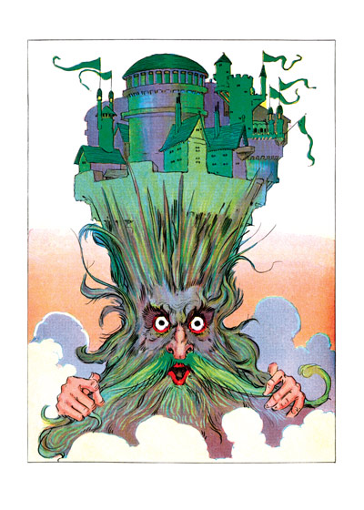 The Royal Palace of Oz Impaled on a Wizard's Head | Weird & Wonderful Art Prints These prints are made at our location in Seattle, WA. They have a thick, white backing board and are sealed in clear bags. Each is suitable for framing at 11 inches x 14 inches or can be used as is for wall display. Our goal is to bring back to life these wonderful illustrations from old-fashioned, children'sbooks and from early advertising art.