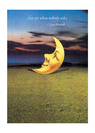Smiling Moon | Encouragement Greeting Cards