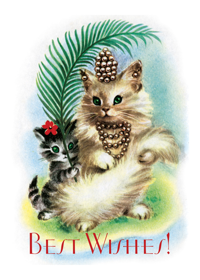 Princess Kitty | Birthday Greeting Cards Outside Greeting: Best Wishes