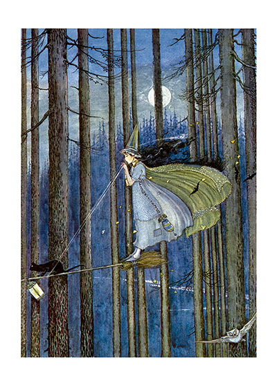 Witch On Her Broomstick | Fairyland Fairies Art Prints
