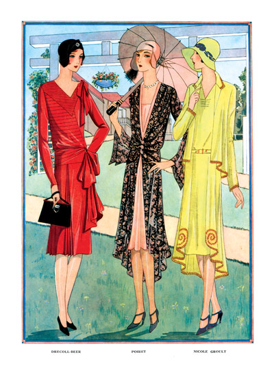 "French Jazz Age Dresses | 1920s Fashion Fashion Greeting Cards ""(Blank inside)"