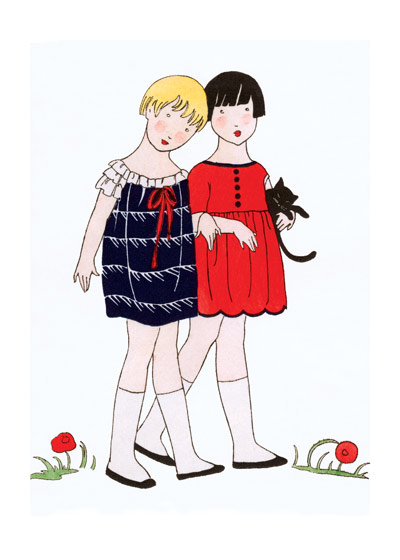 Chic Little Girls of the 1920s | 1920s Fashion Fashion Greeting Cards