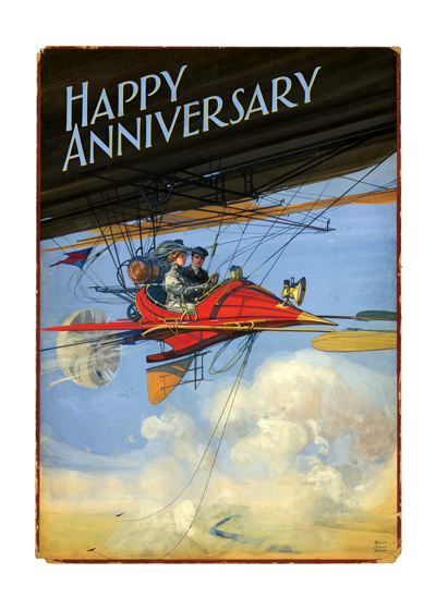 A Flying Couple | Anniversary Greeting Cards
