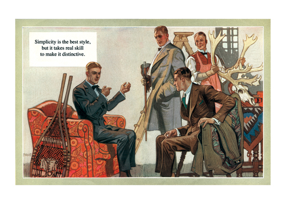 Even Sportsmen Can Be Stylish | 1920s H.Paus Fashion Fashion Greeting Cards Telling his friends about his exploits in the sporting field doesn't mean that this young man has abandoned his determination to be well dressed in Schaffner & Marx clothes, of course.