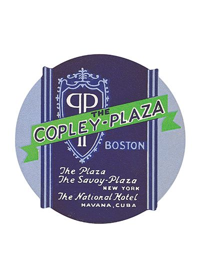 The Copley Plaza Luggage Label Centrally located in historic Back Bay, The Fairmont Copley Plaza stands alongside the Boston Public Library, Trinity Church and Hancock Tower, as the architectural landmarks of Copley Square. Since its opening in 1912, this Boston, Massachusetts luxury hotel has stood as a symbol of the city's rich tradition of culture, history and hospitality.  Our blank notecards are custom printed at our location in Seattle, WA. They come bagged with an envelope. We love illustration art from old children's books and early, printed ephemera. These cards reflect this interest in bringing delightful art back to life.