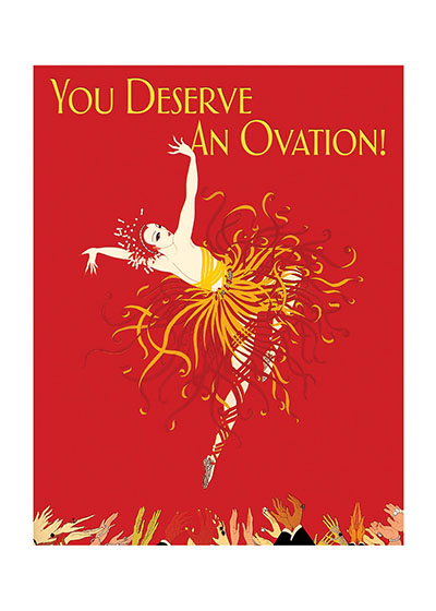 Fire Dancer Congratulations | Congratulations Greeting Cards Amazing colors and clapping hands express congratulations in this beautiful card. The image comes to us from a fashion illustration.