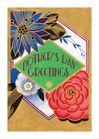 Art Deco Perfume Label Mother's Day | Mother's Day Greeting Cards These beautiful flowers come to us from a French Art Deco perfume label of the early 20th century.