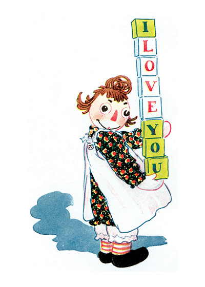 Raggedy Ann Sends Her Love Friendship | Friendship Greeting Cards Raggedy Ann conveys the simplest but most powerful message.