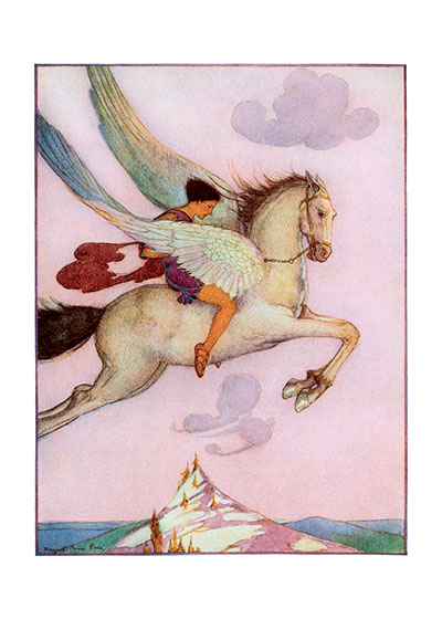 Fly! Flying Horse  INSIDE GREETING: The world, even the smallest parts of it, is filled with things you don't know. - Sherman Alexie.  Tell the graduate it's time to let their dreams take flight with this inspiring image, from Margaret Evans Price.