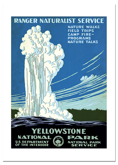 Old Faithful Yellowstone National Park's famous geyser is one of its most popular features.  It gets its name from being one of the most predictable geographical events in the world. It shoots up its 100 foot column of water at least once every 2 hours.