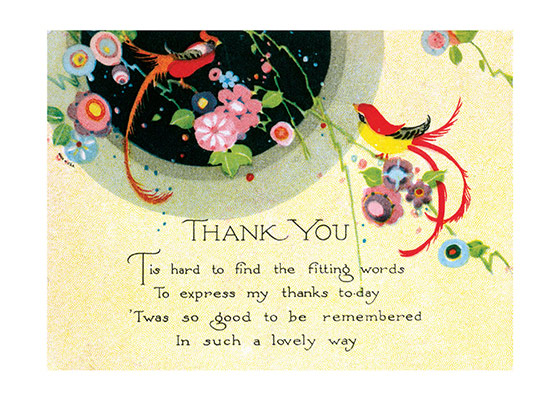 Art deco thank you card thank you greeting cards m4hsunfo