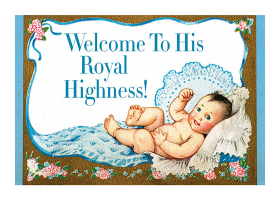 Baby Boy with a Crown | Baby Greeting Cards