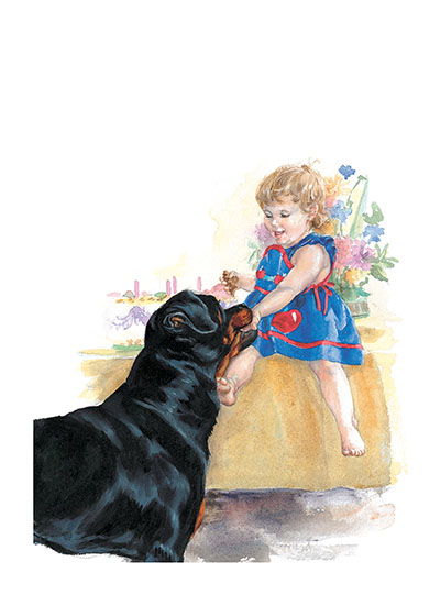 Carl Eating Birthday Cake-Signed Print | Good Dog, Carl Art Prints This image comes from the book {Carl's Birthday}.